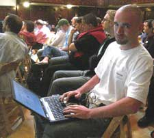 Aaron at WordCamp 2006
