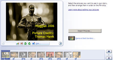 Microsoft Photostory Screenshot