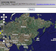 Geonomy: The Earth tagged on so many locations