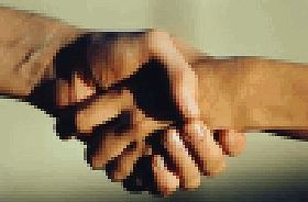 Pixelated handshake