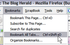 Firefox Bookmark all tabs