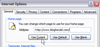 Internet Explorer Customize Home Page Option