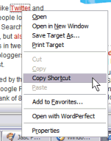 Internet Explorer Right Click Menu