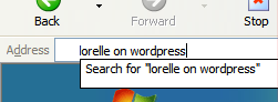 Internet Explorer Address Bar becomes search bar