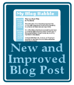 Graphic Copyright Lorelle VanFossen - New and improved blog post sign