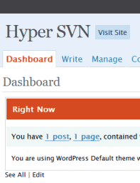 WordPress 2.4 Administration Panel preview