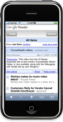 New Version Of Google Reader For iPhone