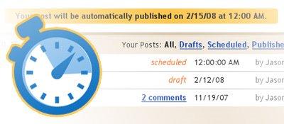 blogger scheduled posts