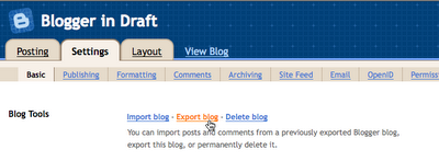 New On Google's Blogger: Import-Export Blogs, Ratings And Embeded Comment Forms?