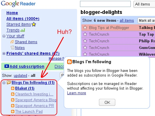Google Redundancy: Google Reader Resubscibes To Blogs I Already Read?