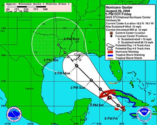 Hurricane Gustav Blog News and Links