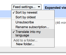Google Reader Embraces Universal Translator