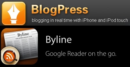 Christmas Comes Early: Purchase BlogPress And Get Byline For Free? (iPhone Apps)