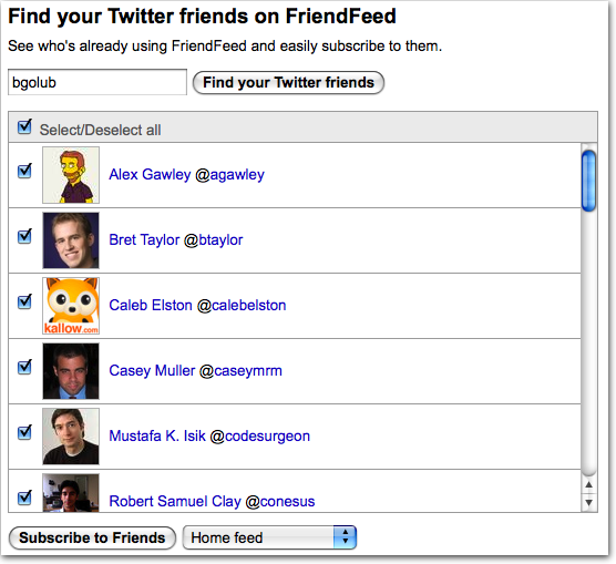 FriendFeed Creates More Noise (Adds Twitter Import Friend Tool)