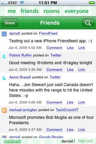 Nambu: The iPhone App For Friendfeed Fanatics