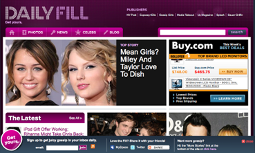 DailyFill.com launches; Predicts to surpass PerezHilton.com next month