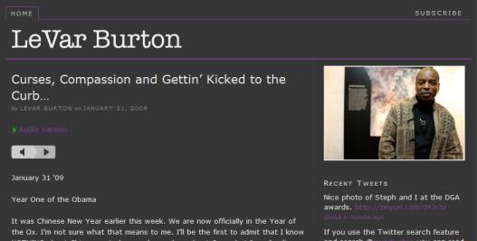 Exploring Social Media: LeVar Burton Passionate About Social Media