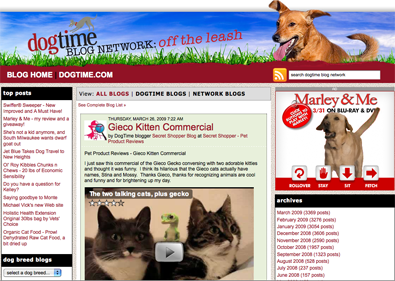 DogTime Blog Network grows to 320 pet bloggers with reach to 1.2 million visitors