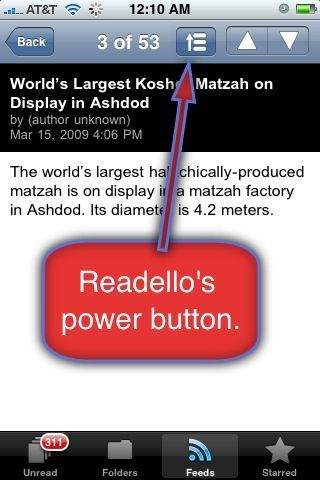 A Close Encounter With Readello (Google Reader iPhone App)