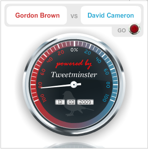 TweetMinster lets users track the hot political topics on Twitter