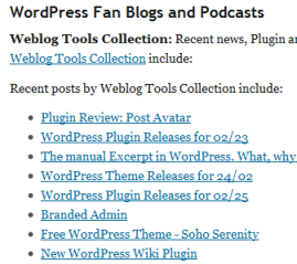 WordPress News - Fan Blogs