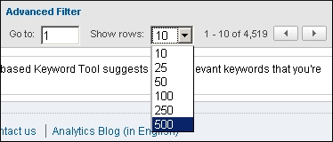 show-rows-keywords-ga