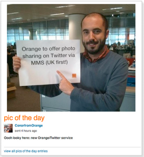 Orange UK mobile customers get Twitter picture messaging