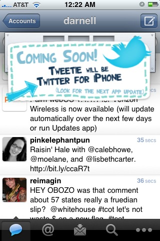 "Tweetie Surprises Users With ""Easter Egg"" (Announces Bad News For Developers)"