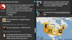TweetDeck Google Buzz Feature - Screenshot