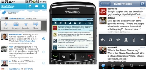 Twitter Vs Twitter (On Android, Blackberry And iPhone)