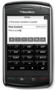 WordPress Blackberry App Mocks iPhone Users (Again)