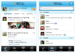 Microsoft Live Messenger Gets iPhone App Love, Plus It's Social Media Friendly
