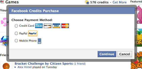 Asia and Australia Now offering Facebook Credits Through Retail Locations