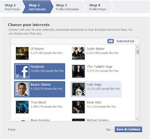 New Facebook Users Now Receiving Suggestions