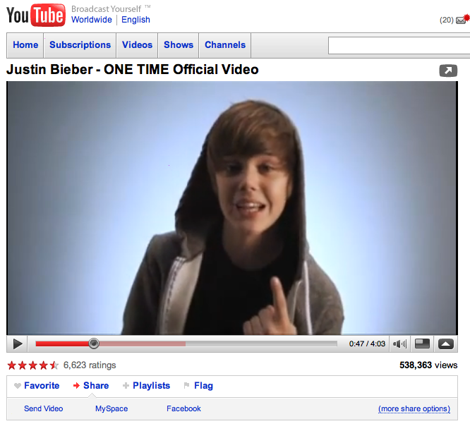 YouTube Hacked, Justin Bieber Videos Targeted