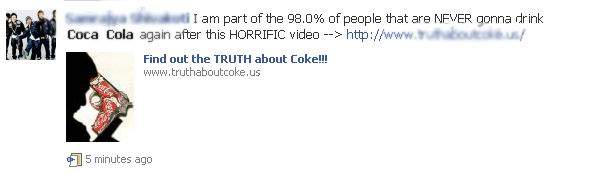 Facebook Warning: Coca-Cola Ad Scam