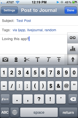LiveJournal Resurrects iPhone App