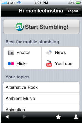 StumbleUpon Goes The iPhone Route, Android Joins The Hunt