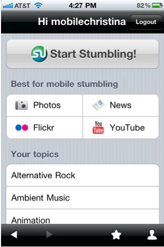 StumbleUpon iPhone App