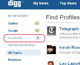 Is Facebook Blocking Digg's Profile Finder?