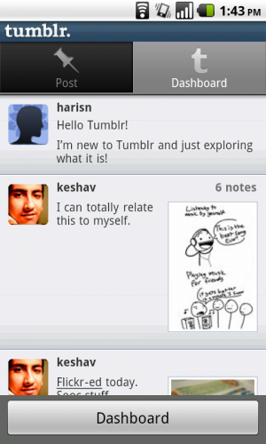 Tumblr Sneaks Out Android App