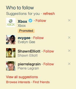 Xbox Promoted Accounts