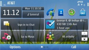 Foursquare Symbian App Screenshot