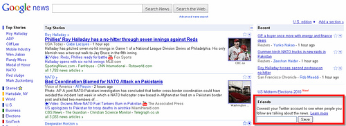 Google News Chooses Twitter Over Google Buzz?
