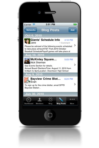 Ning Launches iPhone App!