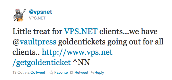 VPS.NET To WordPress Fans: VaultPress Now Included