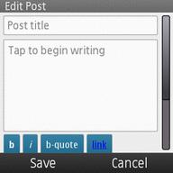 WordPress For Nokia Live Upon Ovi Store