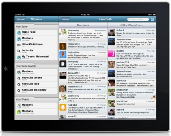 Hootsuite iPad