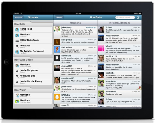 Hootsuite Releases iPad App For Better Social Networking