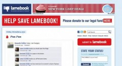 Lamebook Website with Legal Funds request